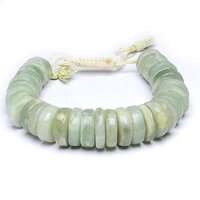 Satyamani Natural Green Aventurine Big Roundello Bracelet For Heart Chakra