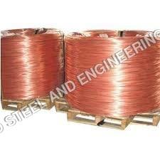 Continuous cast copper rods
