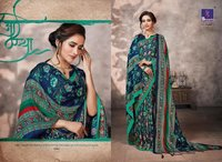 Fancy Print Pashmina Silk Sarees