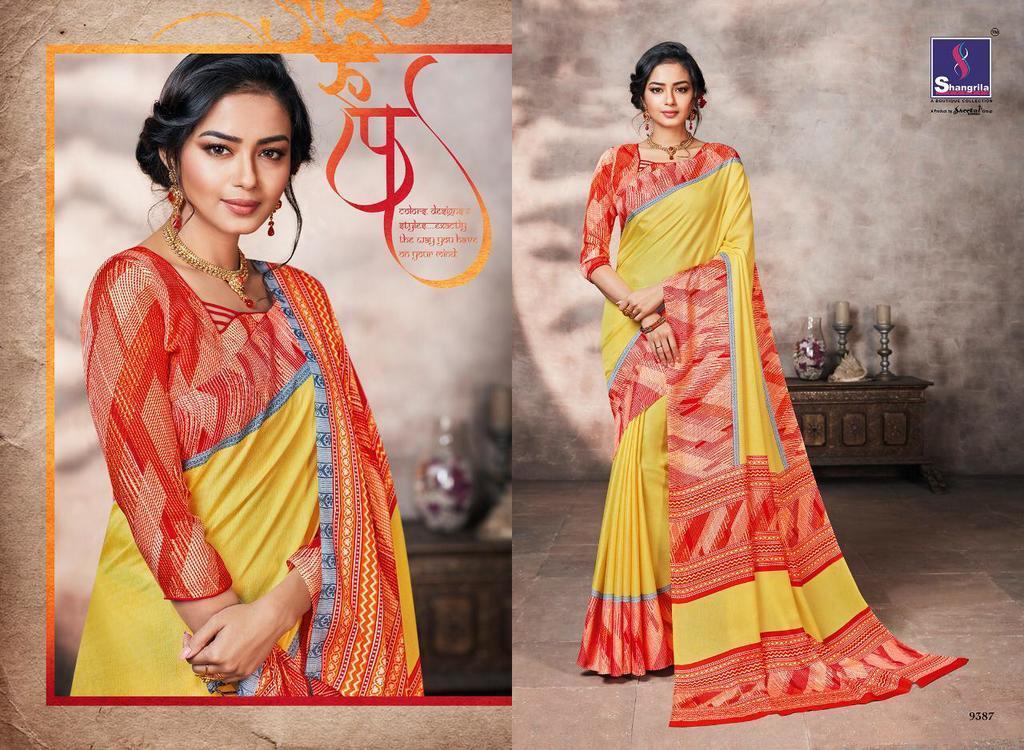 Fancy Print Pashmina Silk Sarees