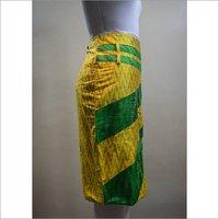 Silk Ikkat Skirt