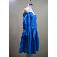 Designer Cotton Silk Ikkat Dress