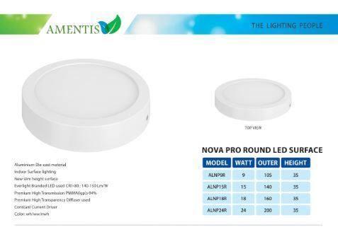 Nova-runde führende Prooberfläche 9 Watt