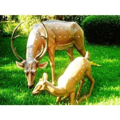 Deer Set Fiber Statue for Theme Park
