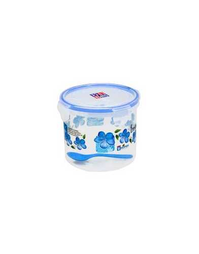 1 ltr. Super lock Printed Round Container