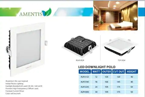 Led Downlight Polo 12 Watt