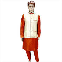 Mens Party Wear Kurta Pyjama With Koti