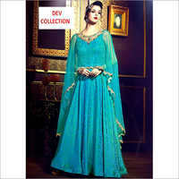 Ladies Embroidered Party Wear Long Dress