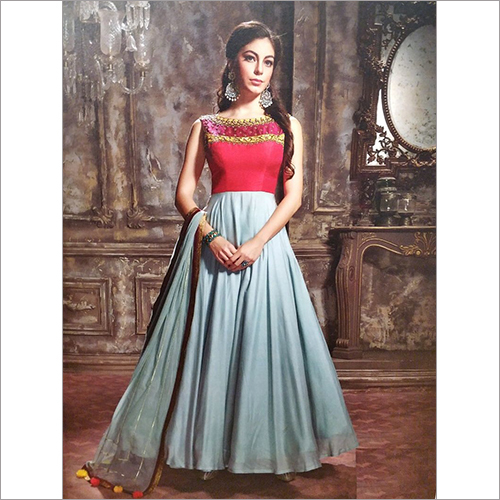 Ladies Designer Party Wear Long Dress