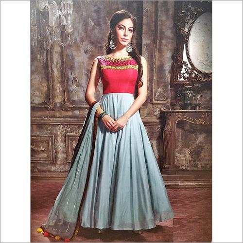Ladies Designer Party Wear Long Dress