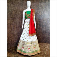 Ladies Designer Unstitched Ghagra Choli Material