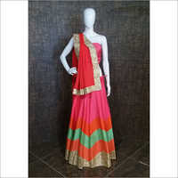 Ladies Party Wear Unstitched Ghagra Choli Material