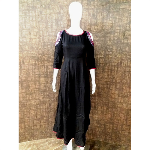 Ladies Off Shoulder Kurti