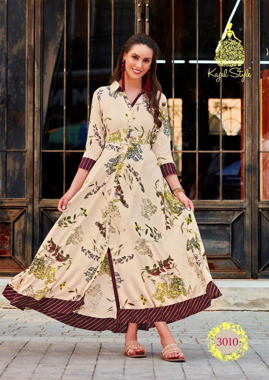 Kajal Style heavy Designer Rayon Kurtis