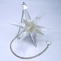 Natural Clear Quartz Galaxy Merkaba Star with Healing Properties For Reiki & Meditation