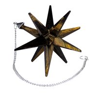 Natural Tiger Eye Galaxy Merkaba Star For Vastu/Reiki/Home Decor & Meditation