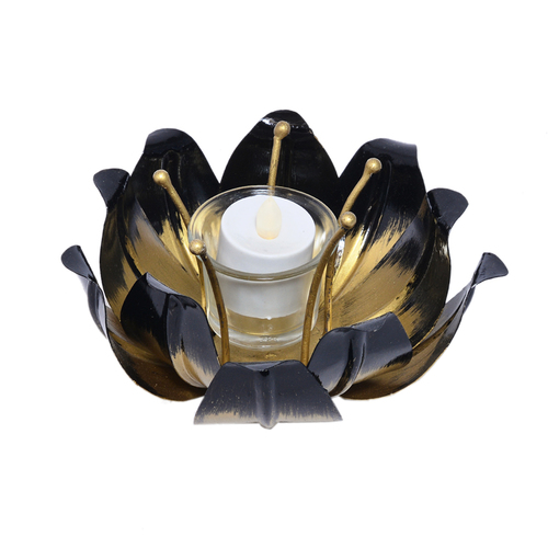 Indian Handmade Home Decorative Lotus Design Tea Light Candle Jar