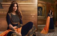 Embroidered georgette full flair anarkali suits