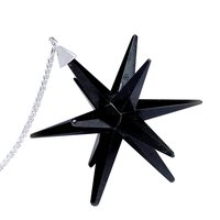 Satyamani Natural Black Tourmaline Galaxy Merkaba Star with Healing