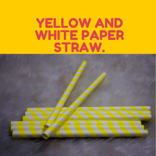 Yellow and White Straw
