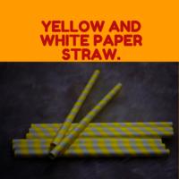 Yellow and White Straw