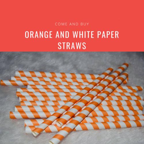 Orange and White Straw