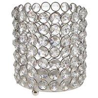 crystal votive candle holder