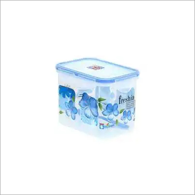 1.1 Ltr. Plastic Super Lock Printed rectangle Container