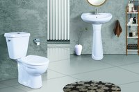 Ceramic Close Couple Toilet Set