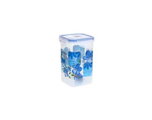1 Ltr. Plastic Super Lock Printed Square Container