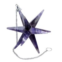 Natural Amethyst Galaxy Merkaba Star with Healing Properties For Reiki & Home Protection