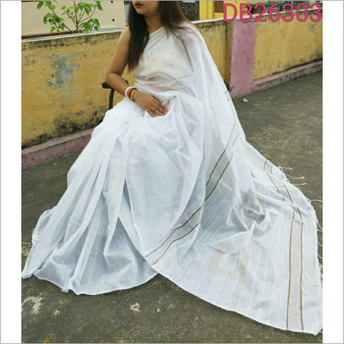 Ladies Plain Jamdani Saree