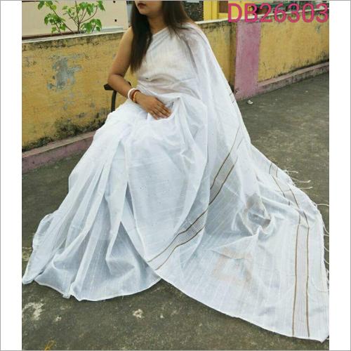 Ladies Plain Jamdani Saree