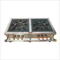 SS Top Frame Double Gas Burner