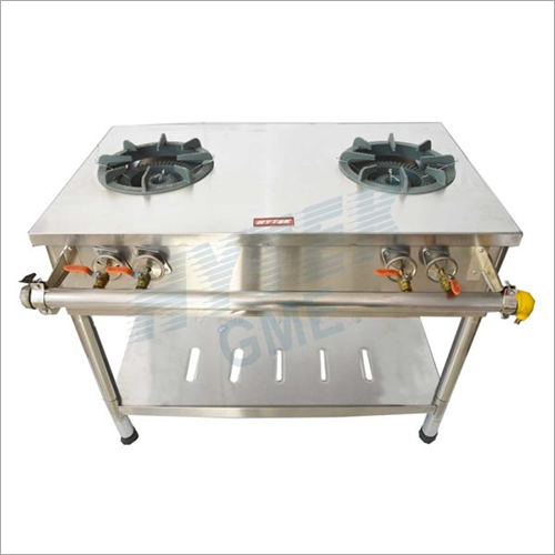 Double Round Burner Gas Stove
