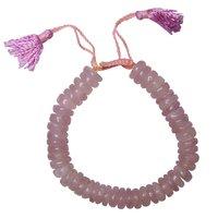 Natural Stone Rose Quartz Big Roundello Bracelet For Compassion