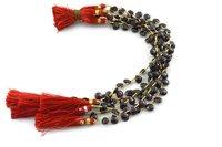 Natural Dark Red Garnet Briolette Pear Faceted Gemstone Beads Strands