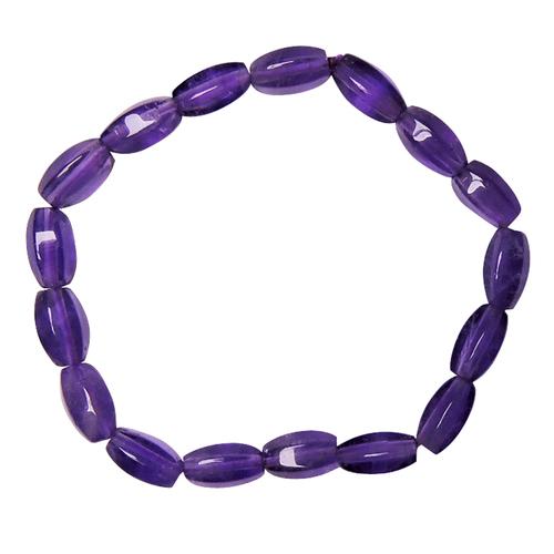 Natural Stone Amethyst Tube Shape Healing Bracelet for Psychic