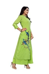 Latest Green Designer Kurti