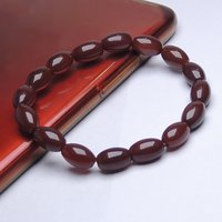 Natural Stone Carnelian Tube Bracelet For Power, Protection, And Positive Energy