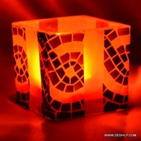 Printing Color Candle Holders Metal Pillar Candle Holders