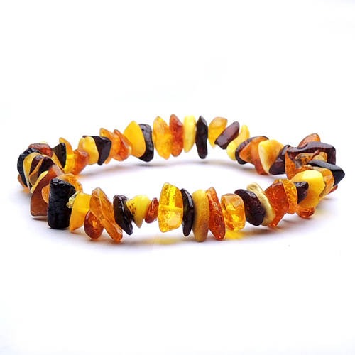 Natural Stone Amber gemstone Healing Chips Bracelet For Self PROTECTION STONE