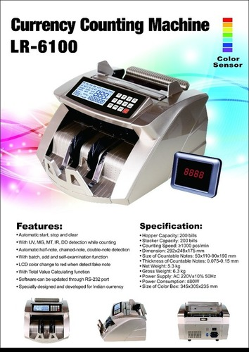 Semi Automatic Cash Counting Machine