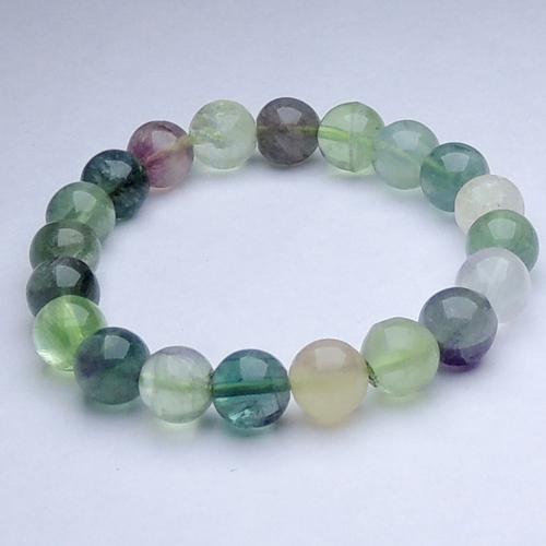 Natural Stone Fluorite & Moonstone Bracelet For Brain Confidance