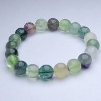 Natural Stone Fluorite & Moonstone Bracelet For Brain Confidance