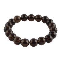 Natural Stone Smokey Beads Bracelet For Fulfilment Of Wish