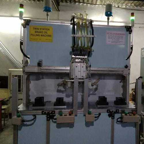 Twin Station Brake Oil filling Machine