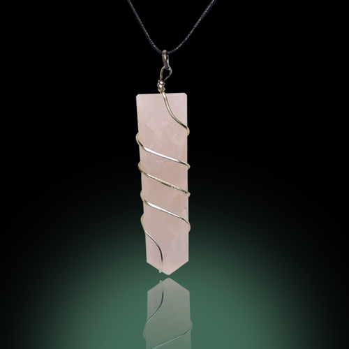 Natural Stone Green Aventurine Double Point Pendant