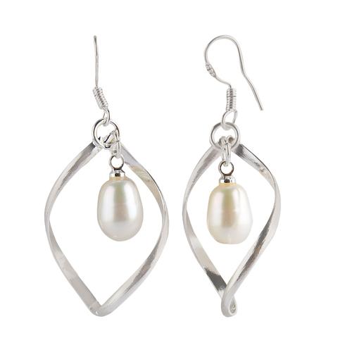 Natural Stone pearl Dangler Earrings Art2