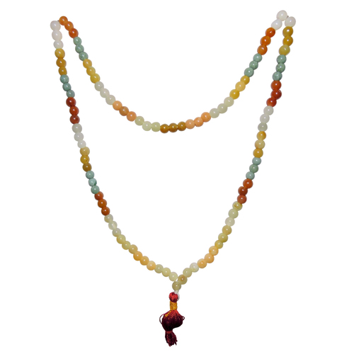 Natural Stone Mixed Jade 108 Beads Necklace
